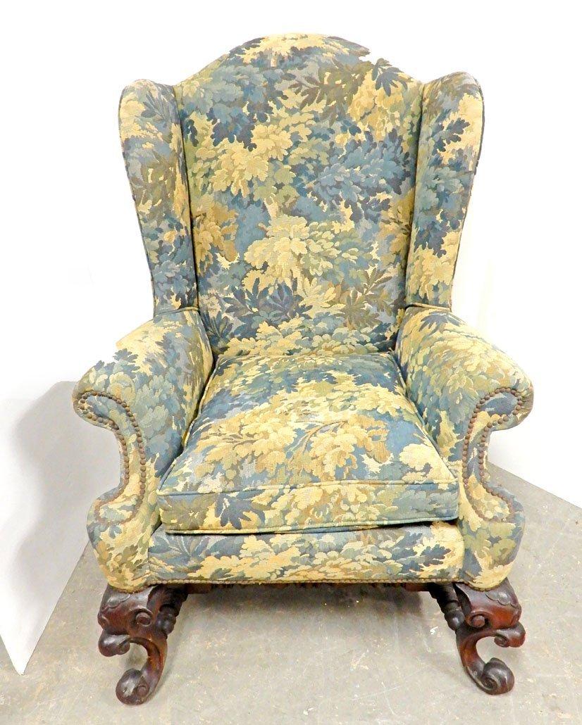 Tressard custom upholstered wing chair