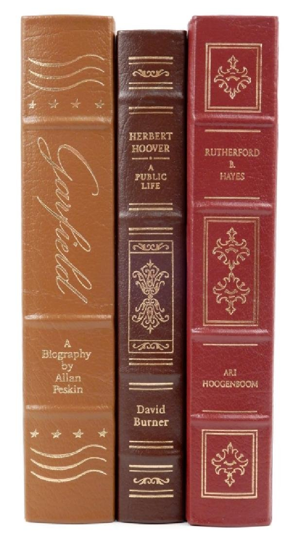 Three Easton Press Library of the Presidents books