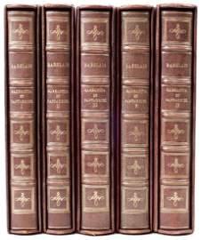 Gargantua et Pantagruel by Rabelais 5 vol set