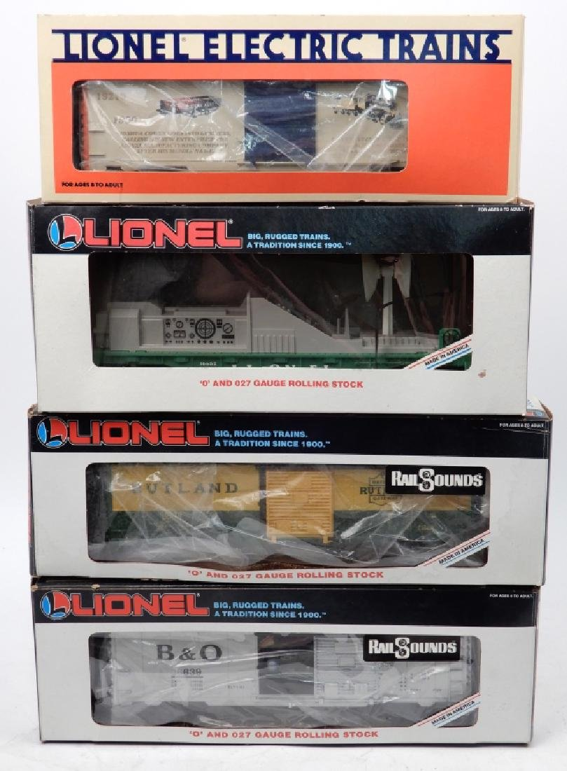 Lionel O and O27 gauge freight cars in boxes