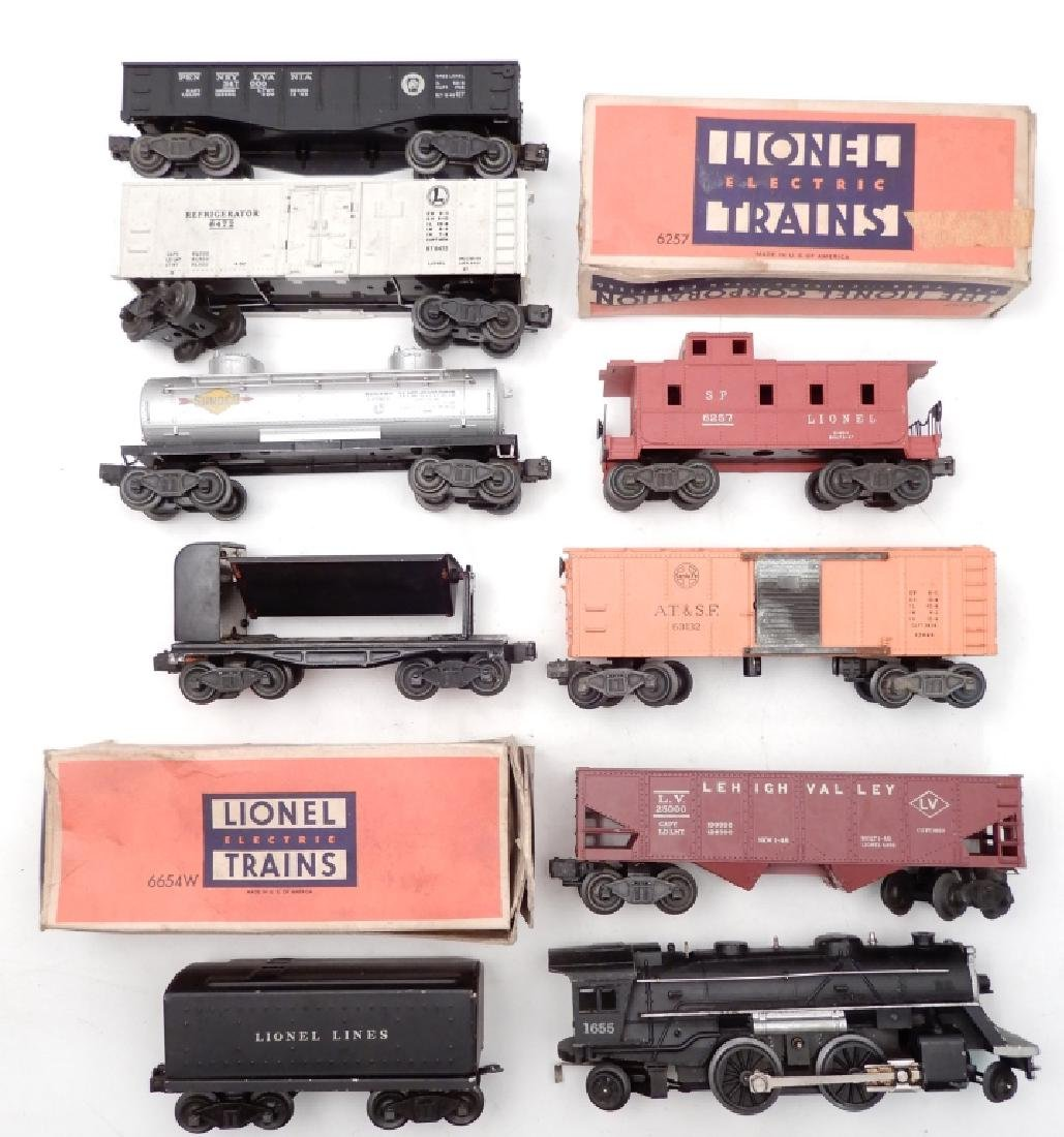 Lionel O27 gauge locomotives and freight cars