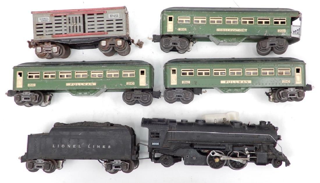 Lionel prewar O27 gauge passenger set