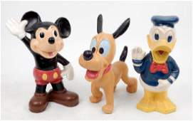 Cast iron Mickey Mouse Donald Duck and Pluto banks