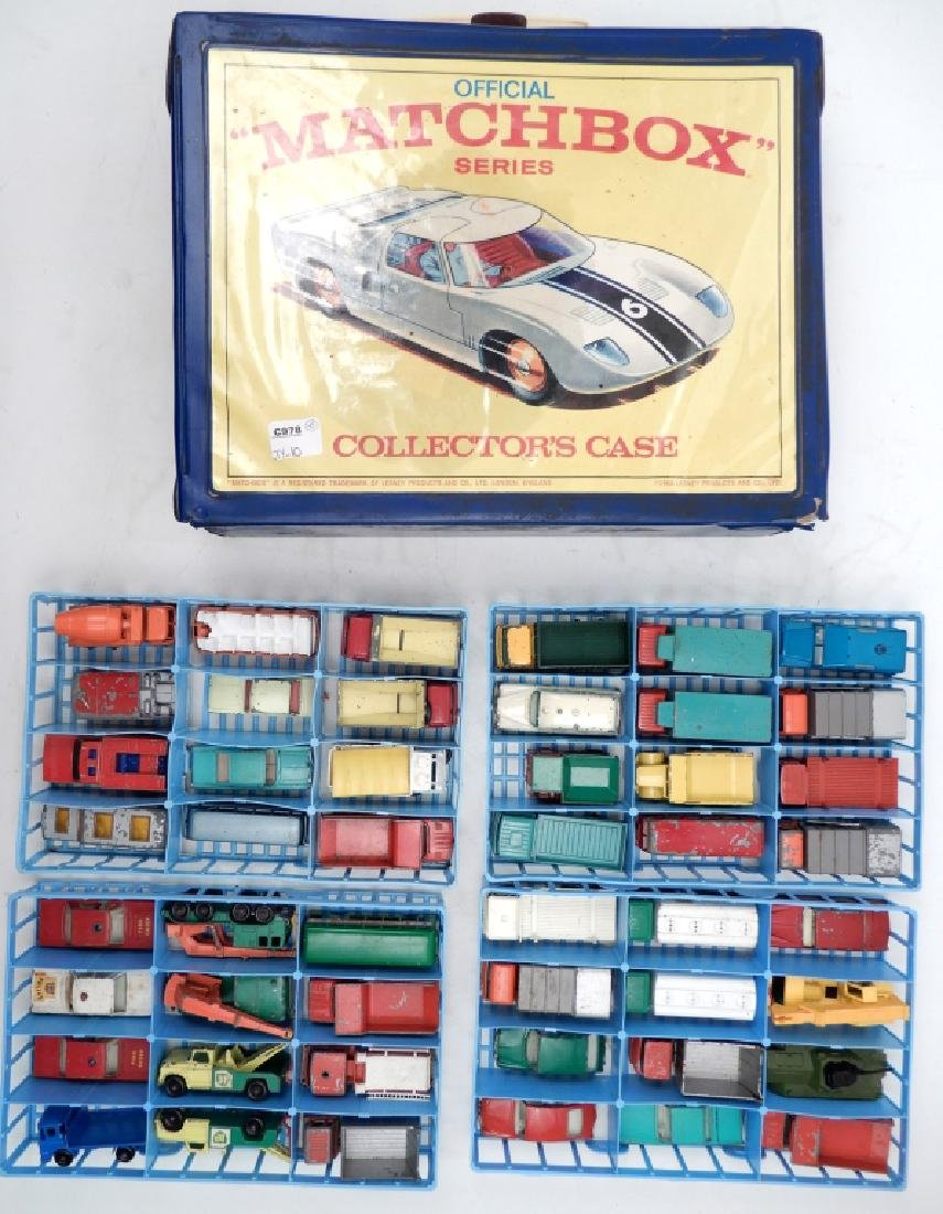 Matchbox Lesney Collector's Case with cars
