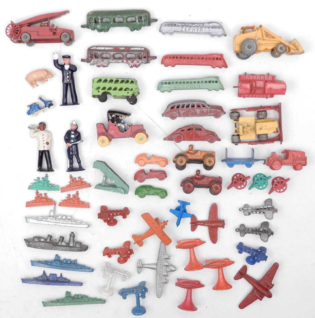 Collection of miniature diecast vehicles