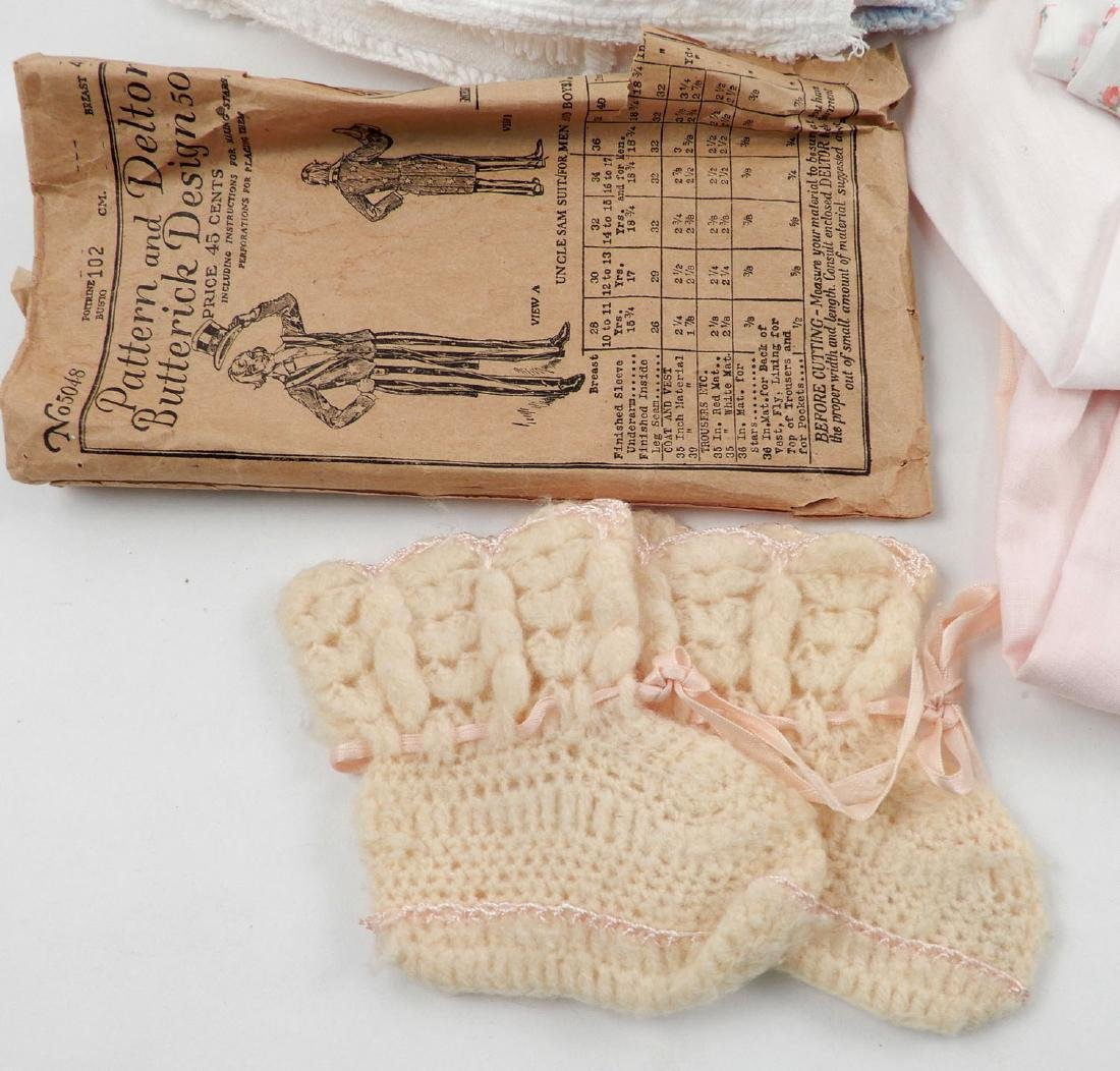 Lot of antique and vintage doll clothes for larger - 2