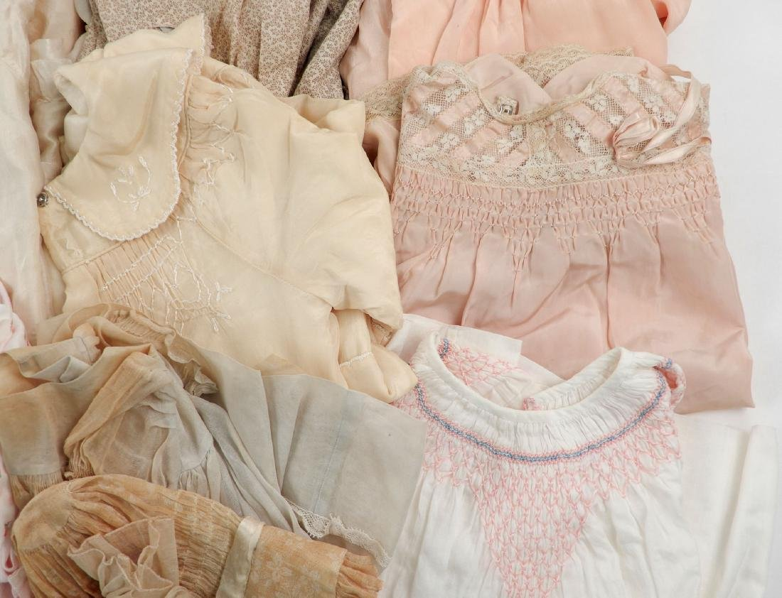 Lot of antique and vintage doll clothes for larger - 4