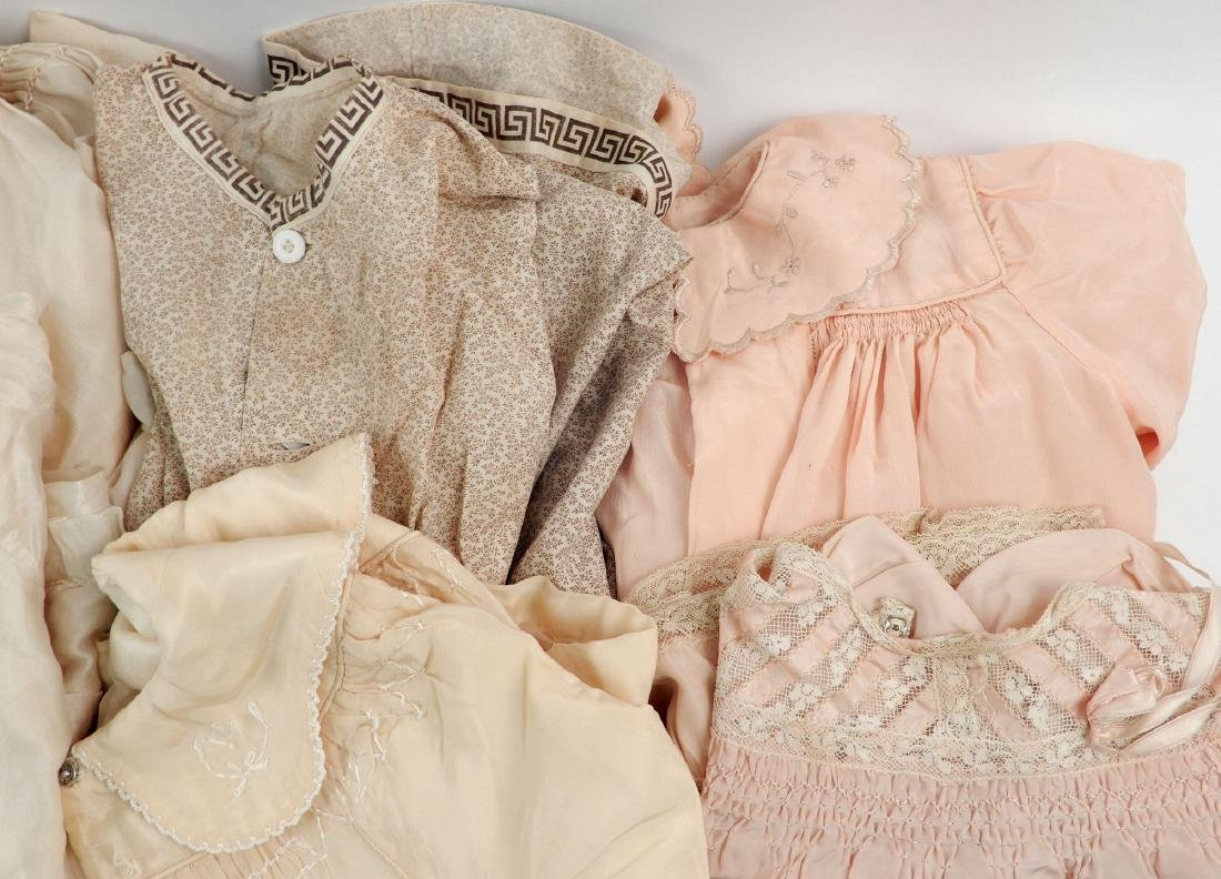 Lot of antique and vintage doll clothes for larger - 5