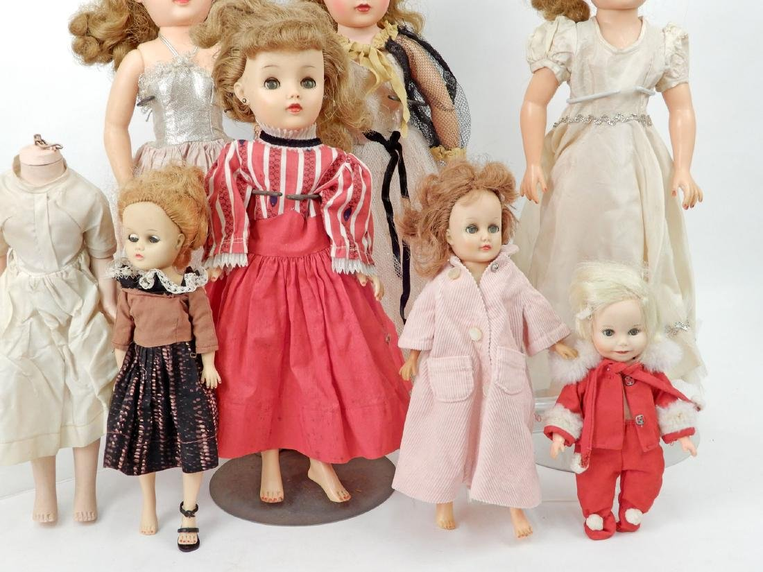 Grouping of vinyl and hard plastic dolls - 2