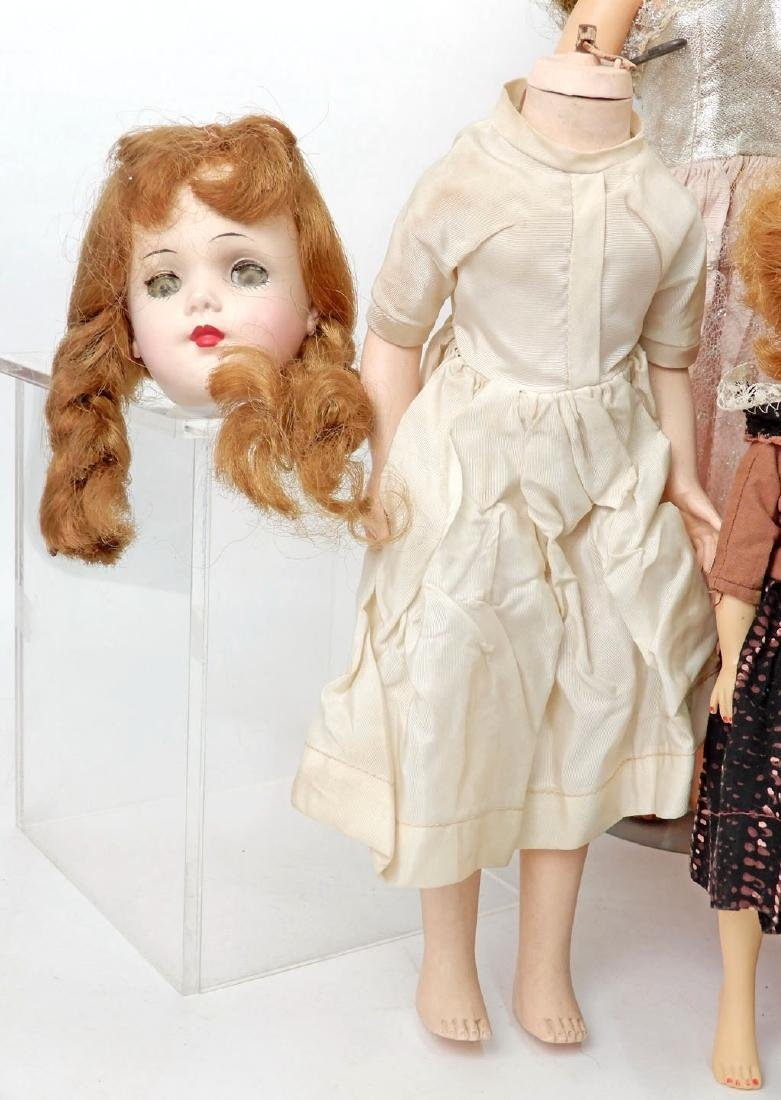 Grouping of vinyl and hard plastic dolls - 3