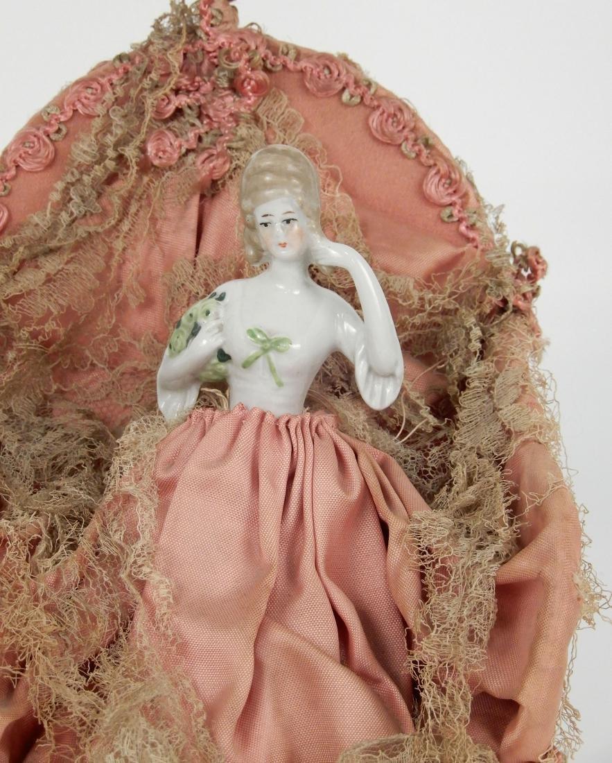 Porcelain half doll figural lamp - 2