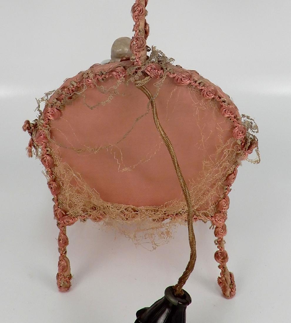 Porcelain half doll figural lamp - 5