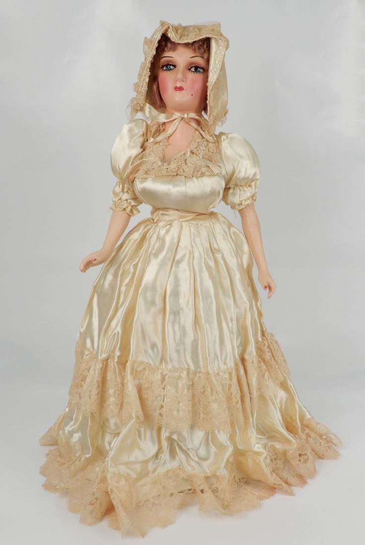 Vintage composition boudoir doll