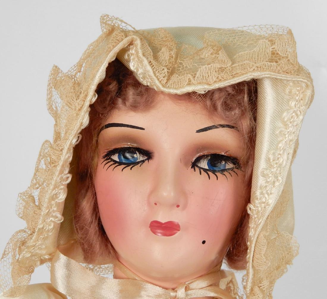 Vintage composition boudoir doll - 2