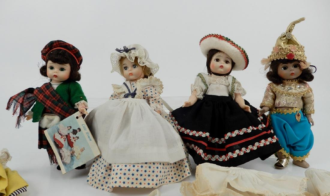 """Four Madame Alexander 8"""" dolls with assorted outfits - 2"""