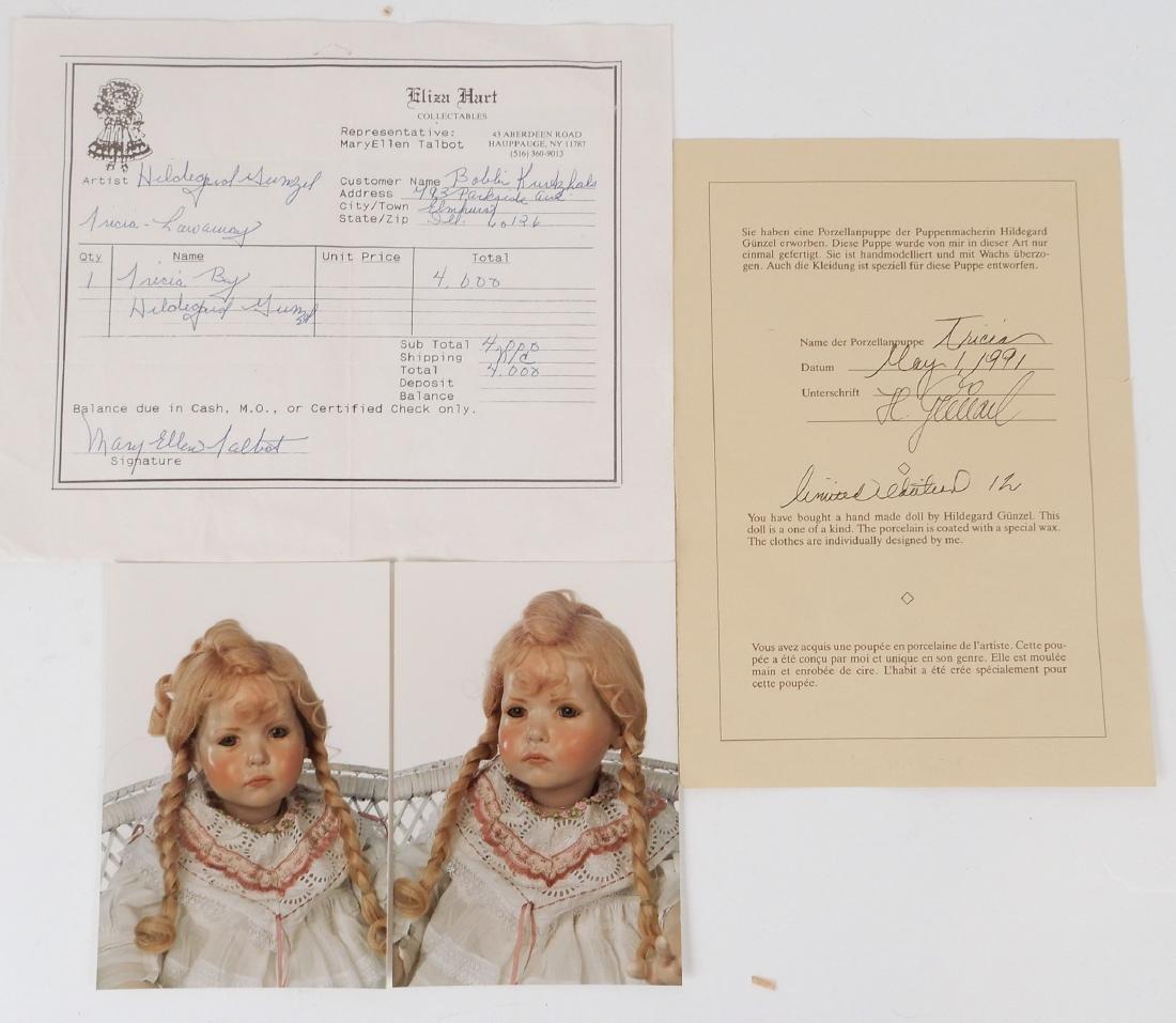Hildegard Gunzel wax over porcelain Tricia artist doll - 4