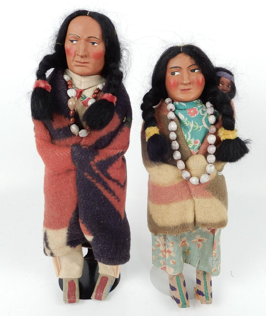 Two vintage Skookum dolls