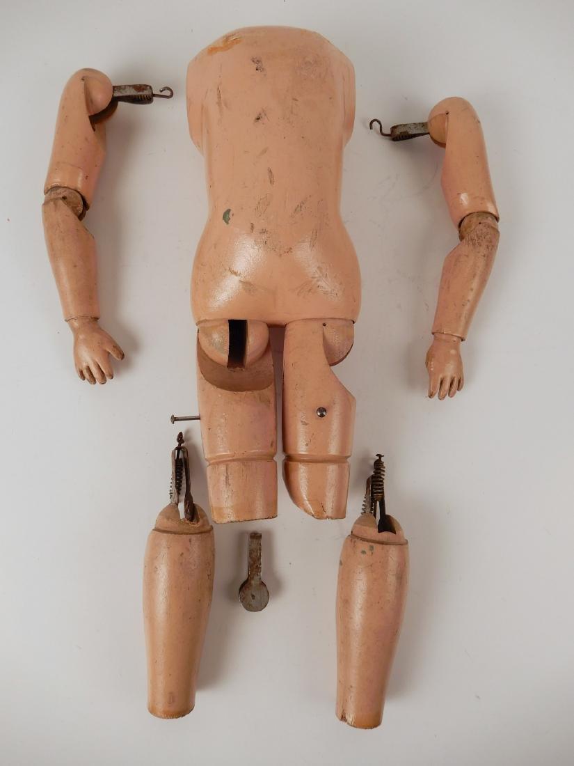 Lot of Schoenhut wooden doll body parts