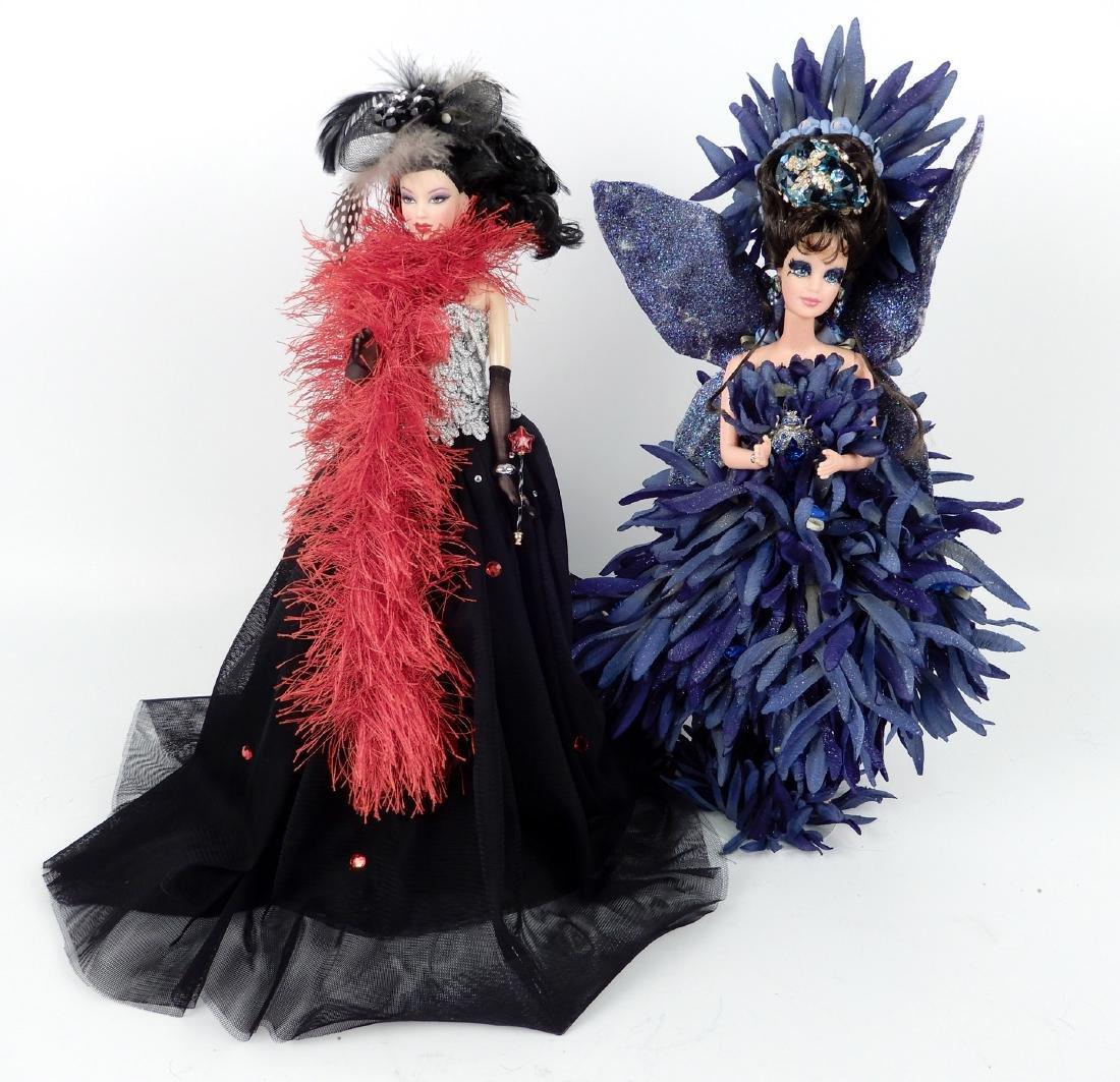 Two OOAK Barbie dolls