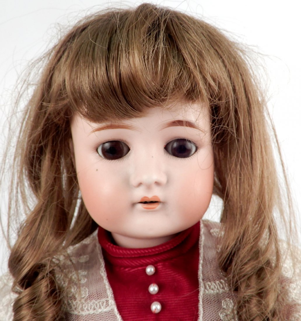 Cuno & Otto Dressel bisque socket head doll - 2