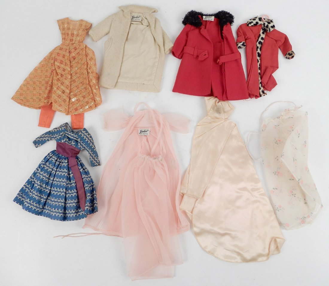 Large grouping of tagged Barbie doll outfits - 4