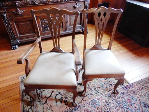 Super Set Of Six Oak Chippendale Style Dining Chairs Caraccident5 Cool Chair Designs And Ideas Caraccident5Info