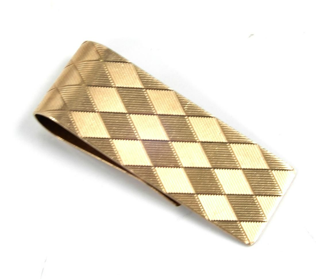 Tiffany 14k gold money clip