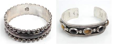Two Mexican sterling silver bracelets