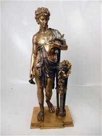 (Henri) Dumaige bronze statue