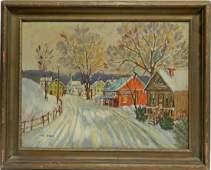 W. (Walter) E. (Emerson) Baum oil on canvas board