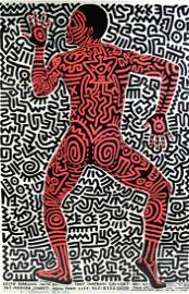 Keith Haring lithographic poster on paper