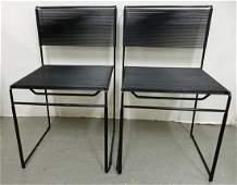 Pair of Giandomenico Belotti Spaghetti chairs