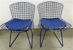 Pair of Harry Bertoia for Knoll wire chairs
