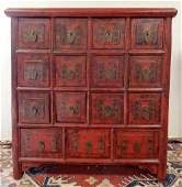 Apothecary style Chinese chest of drawers