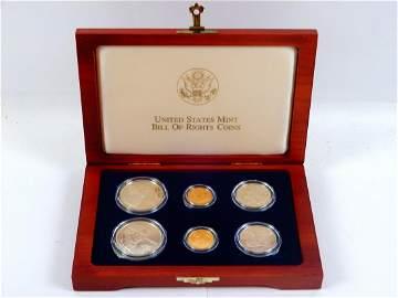 U.S. Mint 1993 Bill of Rights Commemorative Coins set