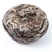 Antique Japanese silver box