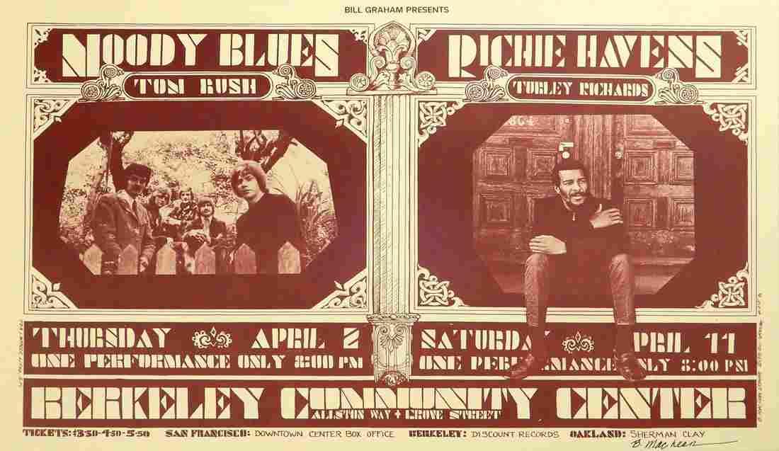 Moody Blues Berkeley Community Theater concert poster