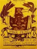 Pink Floyd Fillmore West concert poster