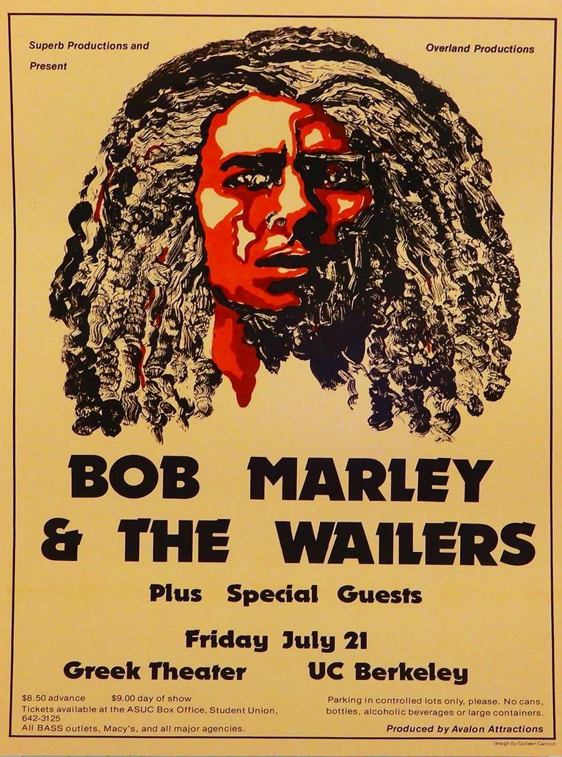 Bob Marley and The Wailers Greek Theater, UC Berkeley,