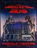 Grateful Dead Warfield Theater concert poster