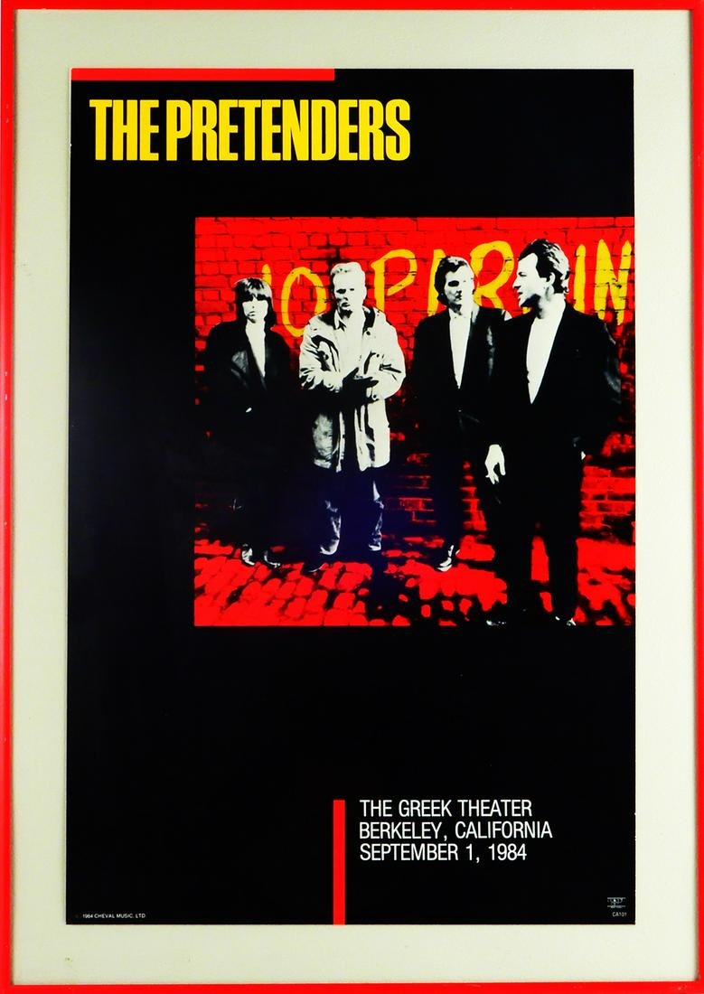 The Pretenders at The Greek Theater window card/concert