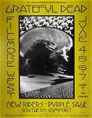 Grateful Dead Fillmore West concert poster