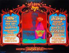 The Who Fillmore West concert poster