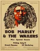 Bob Marley and The Wailers Greek Theater UC Berkeley