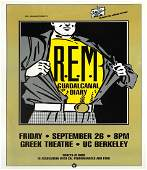 R.E.M. Greek Theatre UC Berkeley concert poster
