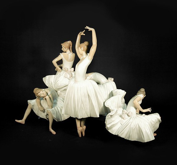 "6: Lladro ""Before the Dance"" ballet figural grouping, L"