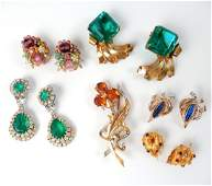 Vintage and signed costume jewelry grouping