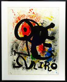 Large Joan Miro artist's proof on Arches paper