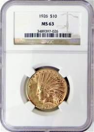 1926 $10 U.S. Indian gold piece
