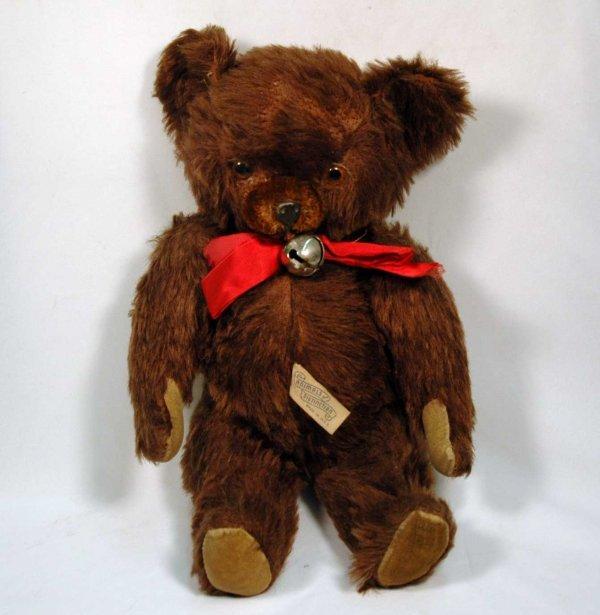 """1: 12"""" Knickerbocker mohair jointed teddy bear, Knicker"""